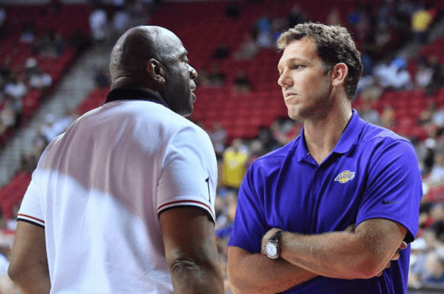Magic Johnson, Luke Walton, Lakers