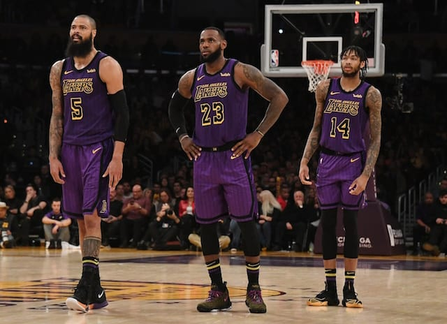 Tyson Chandler, Brandon Ingram, LeBron James, Lakers