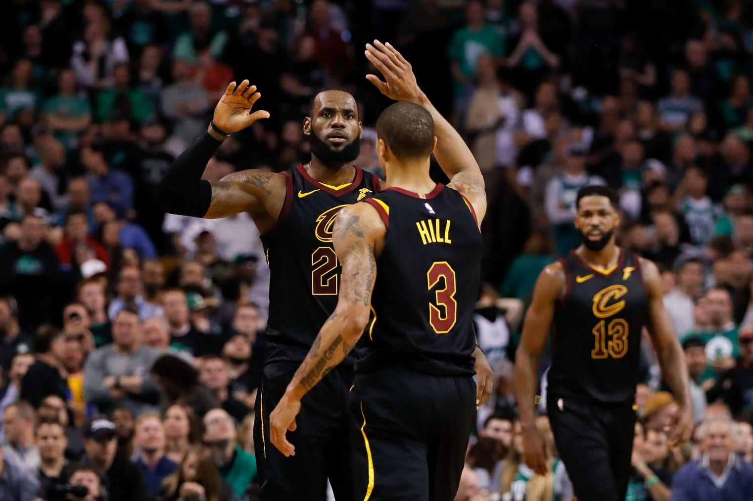 deea2e583af7 Lakers News  George Hill Urges Cavaliers Fans Not To Boo LeBron James In  Return To Cleveland