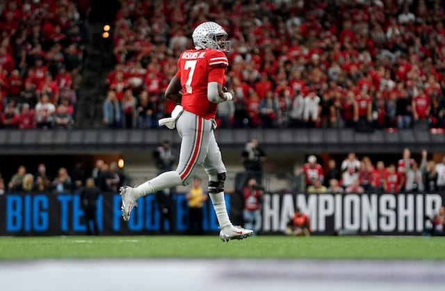 e491b3dac Lakers News  LeBron James Campaigns For Ohio State Quarterback Dwayne  Haskins To Win Heisman Trophy