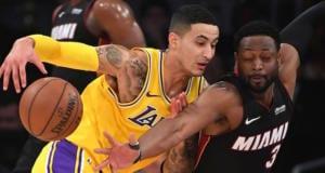 Kyle Kuzma, Dwyane Wade, Lakers, Heat
