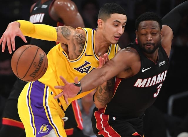 Kyle Kuzma, Dwyane Wade, Lakers, Heat