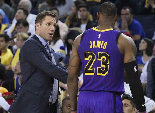 LeBron James, Luke Walton, Lakers