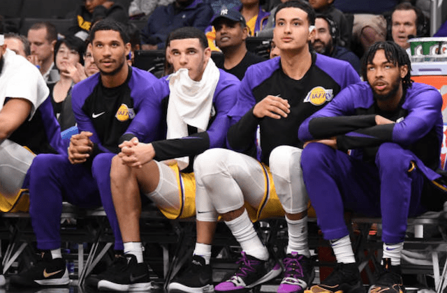 Lonzo Ball, Josh Hart, Brandon Ingram, Kyle Kuzma, Lakers