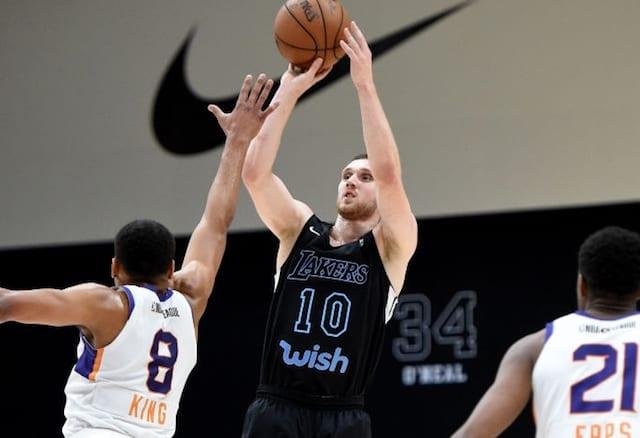 aad69ea2e14 Lakers Highlights  LeBron James Reacts To Svi Mykhailiuk Scoring G League  Season-High 47 Points