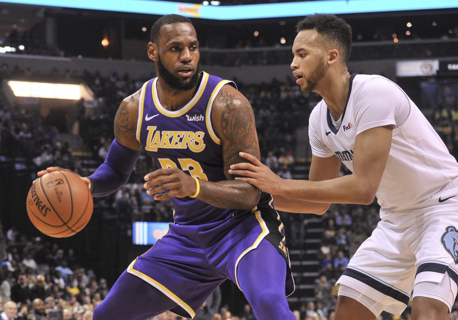 ee3f188e1cb3 Lakers Highlights  LeBron James Leads Six Players In Double Figures As L.A.  Mauls Grizzlies