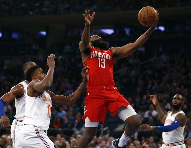 01905e325707 Rockets  James Harden Ties Kobe Bryant For Most Points Scored By Opponent  At Madison Square Garden