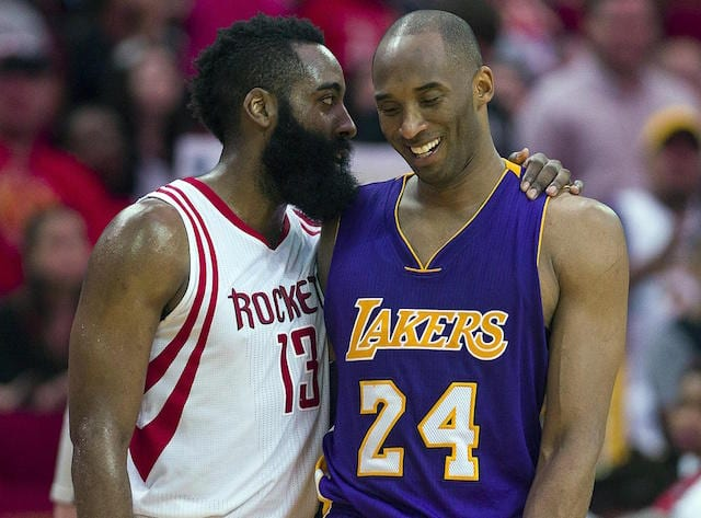 Kobe Bryant, James Harden, Lakers
