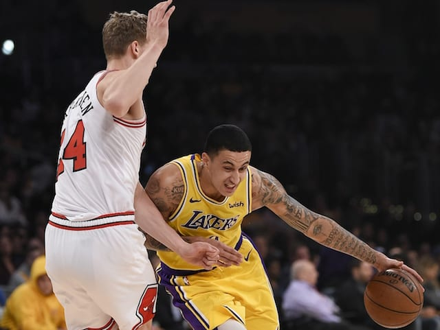27948889f6a3 Lakers Injury Report  Kyle Kuzma Full Participant In Practice But  Availability Vs. Bulls Undetermined