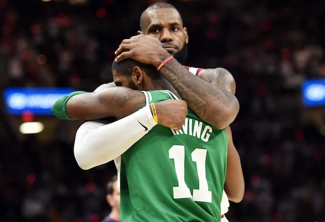 86255ffb17d Kyrie Irving Spoke With LeBron James To Apologize   Seek Advice On  Leadership. Ken Blaze-USA TODAY Sports