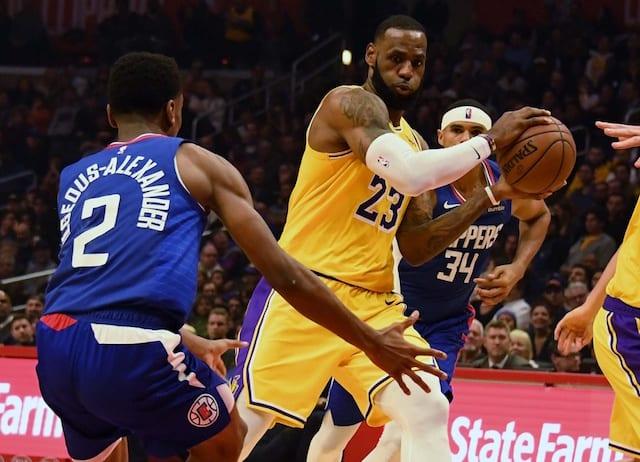 7b7d285bb Lakers Highlights  LeBron James  Near Triple-Double In Return