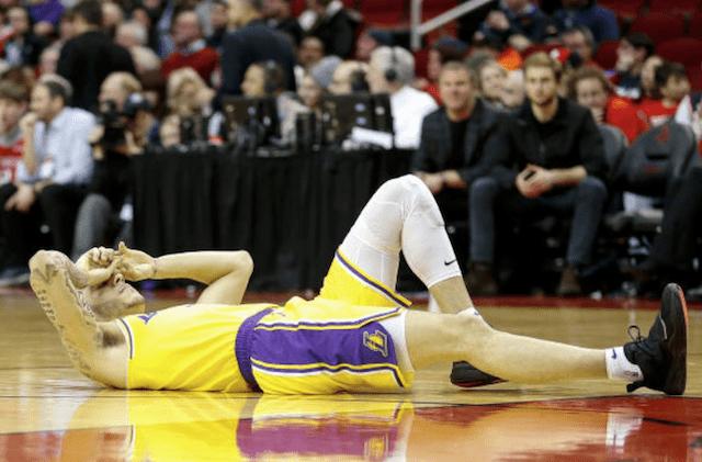 bfa3511cde9 Lakers News  Lonzo Ball Feared Sprained Ankle Was Broken Bone