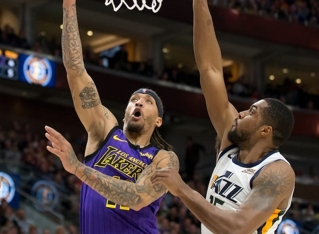 f0a2828f107 Lakers News  Michael Beasley To Undergo X-Rays After Injuring Hand In Loss  To Jazz