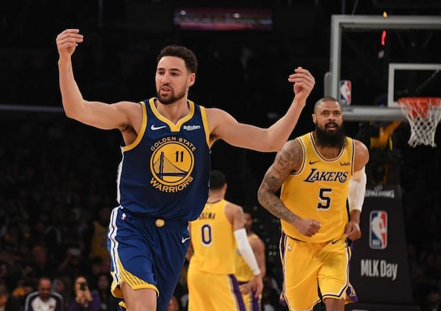 fec4a2f23d0 NBA Free Agency Rumors  Mychal Thompson Does Not See Klay Thompson Signing  With Lakers