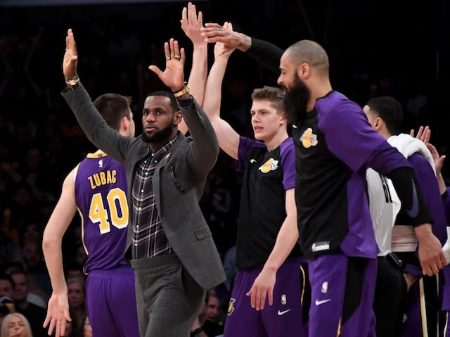 LeBron James misses Lakers road trip, to return to practice next week