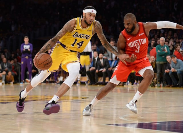 b89ef7bef3e9 LeBron James on Brandon Ingram   He Was Special  For Lakers In Win Over  Rockets. Brandon Ingram