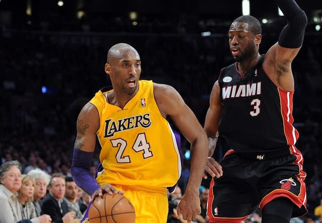 Kobe Bryant, Dwyane Wade, Lakers, Heat