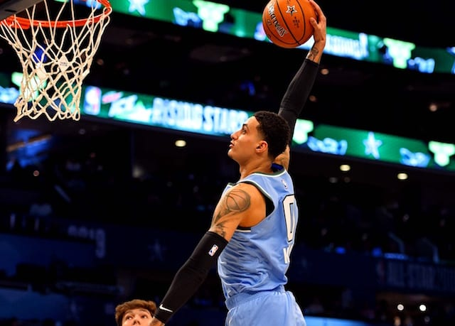 45f5ee5fa1a3f1 2019 NBA All-Star Weekend Charlotte Highlights  Kyle Kuzma s MVP  Performance Leads Team USA Over World In MTN DEW ICE Rising Stars