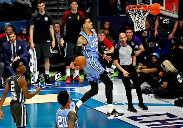 5540f2cdd35c6d 2019 NBA All-Star Weekend Charlotte  Lakers  Kyle Kuzma Named MTN DEW ICE Rising  Stars MVP. Jeremy Brevard-USA TODAY Sports