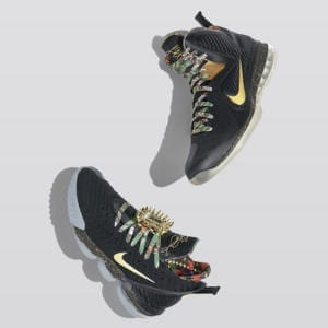 "newest 01b7a a111b Prior to the recent release of the LeBron 16, a ""Watch the Throne"" theme  was incorporated on a Nike Zoom LeBron Soldier VIII that was made available  for ..."