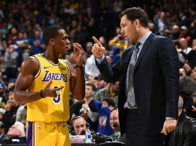 Lakers News  Luke Walton Had  Honest  Conversation With Rajon Rondo ... 46e48556c