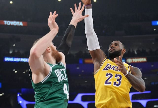 5fc760d0c9d LeBron James Gets Triple-Double, Moritz Wagner & Johnathan Williams Have  Career Nights In Lakers' Loss To Celtics