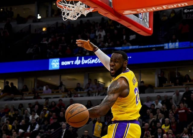 adc4cf082 Lakers Highlights  LeBron James Alley-Oop