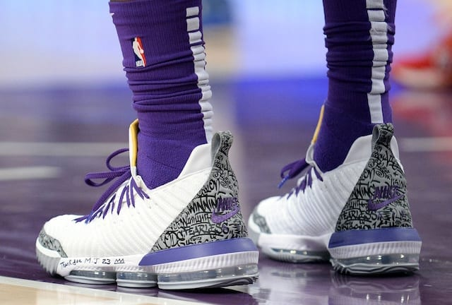 d6cb3a01a21 LeBron James Honors Michael Jordan With Special Air Jordan 3-Inspired Nike  LeBron 16 As He Moves Into Fourth Place On NBA All-Time Scoring List