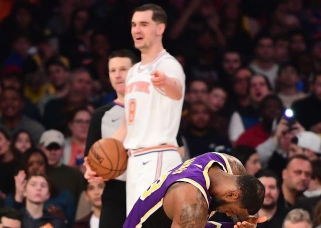 c6b6cd33f Knicks  Mario Hezonja Attributes Game-Winning Block On Lakers  LeBron James  To Not Caring