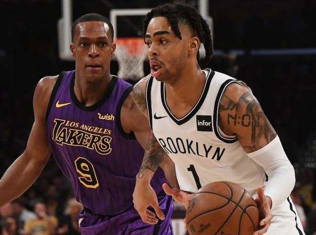 427bd9e948a5 D Angelo Russell Downplays Nets Officially Eliminating LeBron James ...