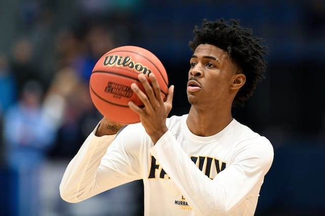 Grizzlies Reportedly Saying They'll Pick Ja Morant In 2019 NBA Draft