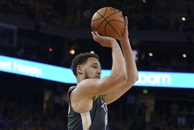 815c57a394cc ... Klay Thompson  Has No Plans  To Give Warriors Discount. Kyle Terada-USA  TODAY Sports