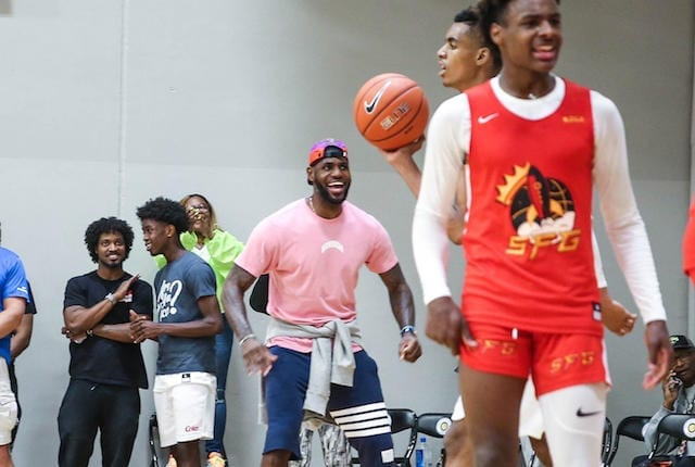 LeBron James, Bronny James, Lakers, AAU