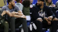 DeMarcus Cousins and Anthony Davis during 2017 NBA All-Star Weekend, Lakers