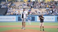 Lakers Video: Anthony Davis Throws Out First Pitch At Dodger Stadium