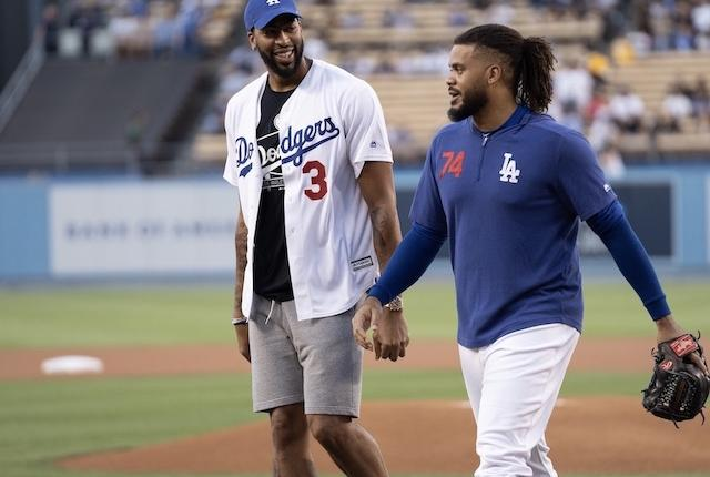 Dodgers Closer Kenley Jansen Shows Passion For Lakers With Custom Mlb Players Weekend Cleats