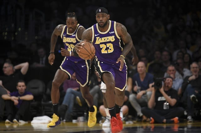 Lebron James Dwight Howard Lead Lakers To Fifth Consecutive