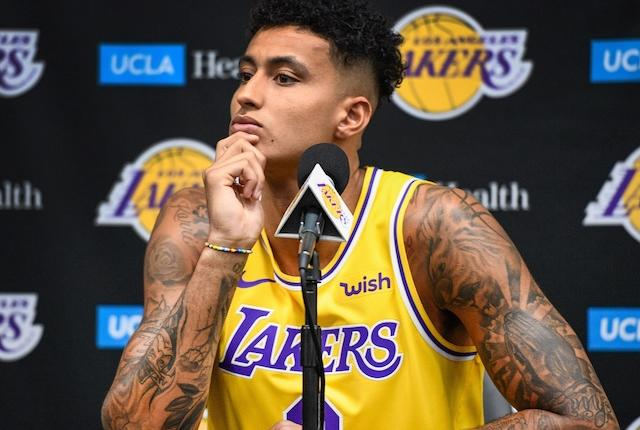 Los Angeles Lakers forward Kyle Kuzma during Media Day