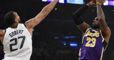 Los Angeles Lakers forward LeBron James against the Utah Jazz