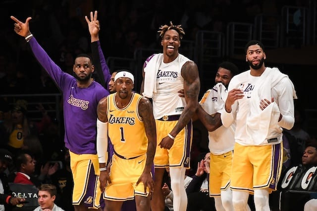 NBA Wrap: Lakers win the fifth in a row; Heat defeat rockets