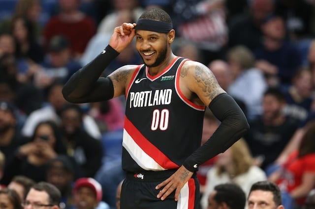 Damian Lillard reacts to Carmelo Anthony's breakout performance vs. Bulls