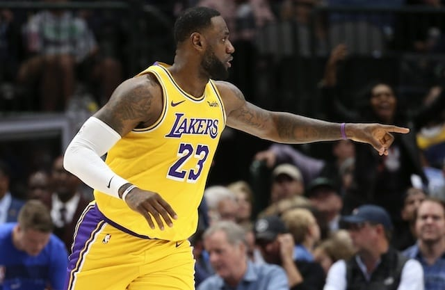 LeBron James has triple-double, Lakers beat Mavs in OT