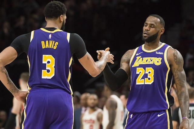 Anthony Davis, LeBron James, Lakers