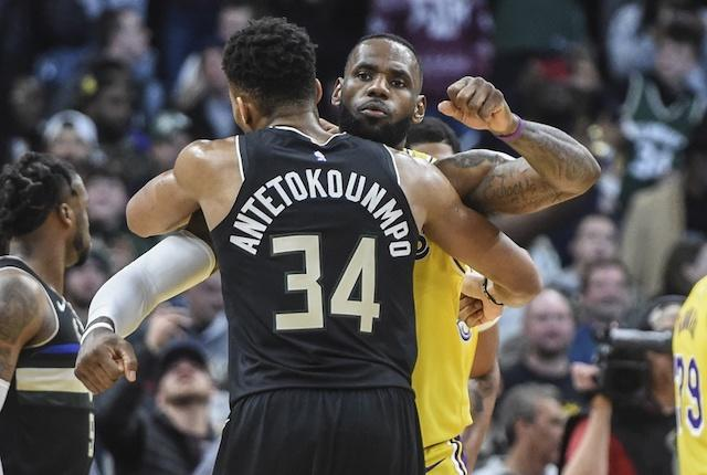 LeBron James, Giannis Antetokounmpo, Lakers, Bucks