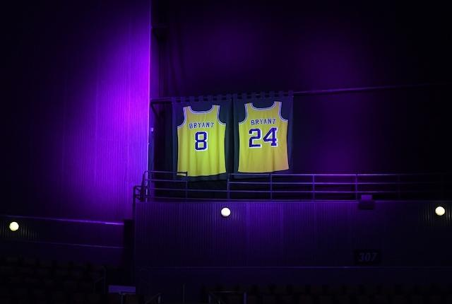 Kobe Bryant retired jerseys