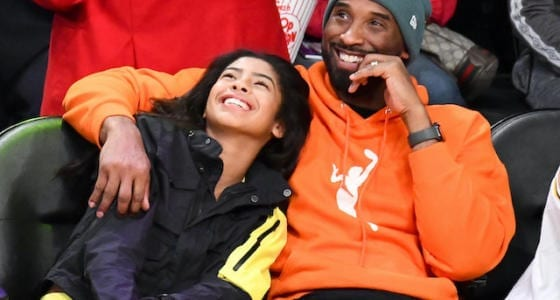 Kobe Bryant, Gianna Bryant watch the Los Angeles Lakers