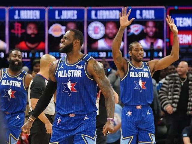 Kawhi Leonard Had Fun Playing With Lebron James Anthony Davis In 2020 Nba All Star Game Lakers Nation