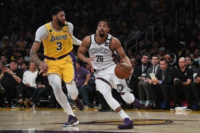 Anthony Davis, Spencer Dinwiddie, Lakers, Nets