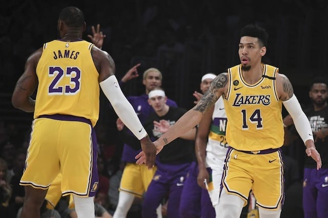 LeBron James, Danny Green, Lakers