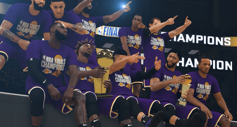 Lakers, NBA 2K20 simulation